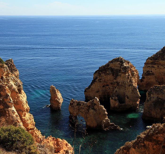 Algarve, Portugal, Mar, Rock